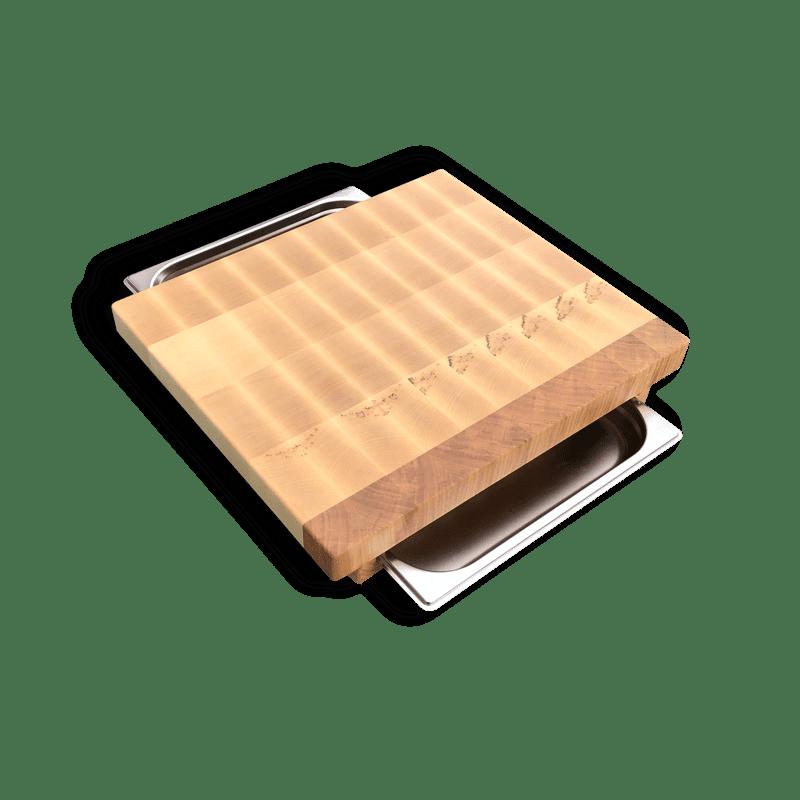 Stirnholzbrett mit Auffangschale